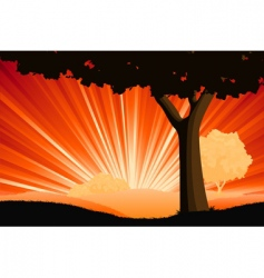 landscape with tree vector image