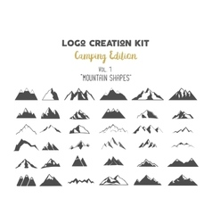 Logo creation kit bundle camping edition set vector