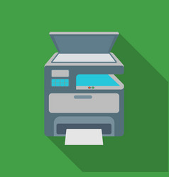 Multi-function printer in flate style isolated on vector