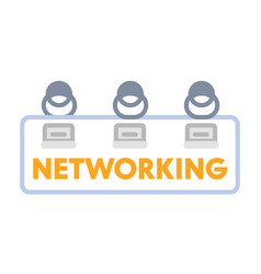 networking or coworking banner top view or vector image