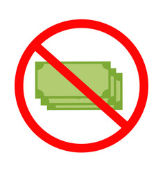 no bank icon on white background flat style no vector image