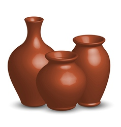 Of vases vector