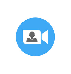 Online meetings work from home teleconference vector