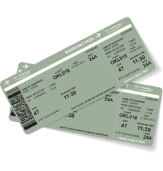 Pattern of two airline boarding pass ticket vector