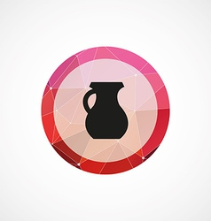 pitcher circle pink triangle background icon vector image