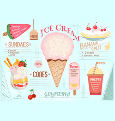 Placemat ice cream vector