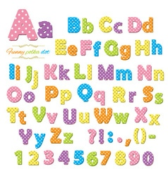 Polka dot font vector