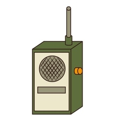 Radio transmitter device icon vector
