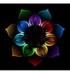 rainbow lotus vector image