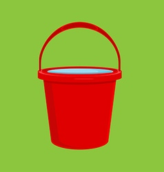 Red bucket icon vector image