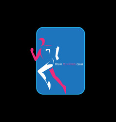 running club for healthy life vector image