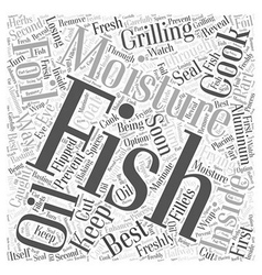 SF cooking your caught fish to perfection Word vector image