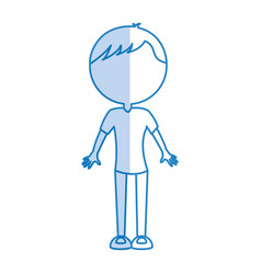 Shadow body man cartoon vector