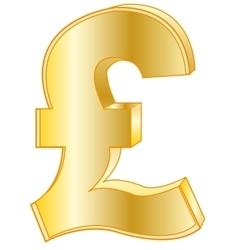 Sign pound sterling golden vector
