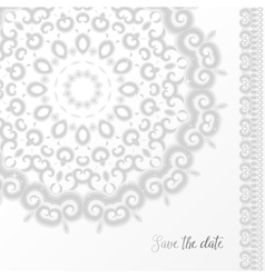 Silver wedding invitation template vector