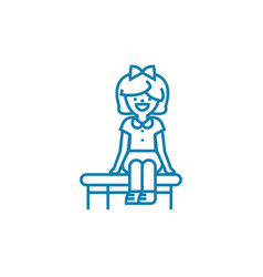 sitting games linear icon concept sitting games vector image
