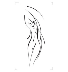 sketch of a female figure vector image