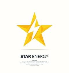 Star polygonal logo vector