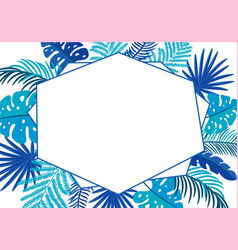 summer floral abstract leaves frame vector image