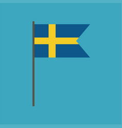 sweden flag icon in flat design vector image