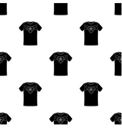 t-shirt fan with printfans single icon in black vector image