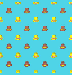 top hat seamless pattern vector image