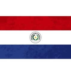 True proportions Paraguay flag with texture vector