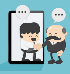 two businessmen are contacting international vector image