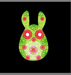 unusual bunny for the easter design and cards vector image