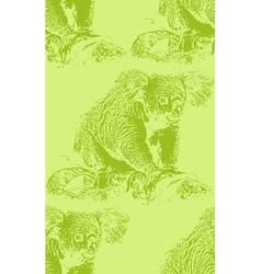 vintage a koala bear seamless animal pattern vector image