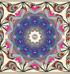 Watercolor set of vintage floral tropical vector
