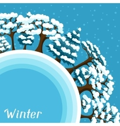 Winter background design with abstract stylized vector