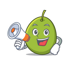 With megaphone olive character cartoon style vector