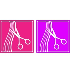 colorful set of hair salon sign vector image