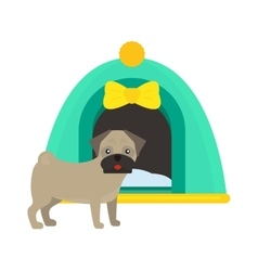 dog house kennel pet animal puppy vector image