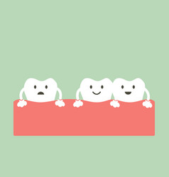 spacing teeth diastema vector image vector image