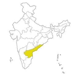 andhra pradesh vector image vector image