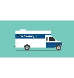 free delivery truck shipping transport ecommerce vector image