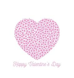 Happy Valentines Day - elegant graphic design card vector image