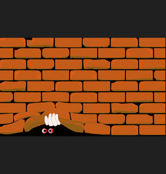 lifting the wall vector image vector image
