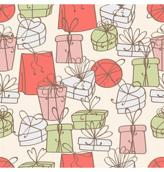 pattern of gift boxes vector image