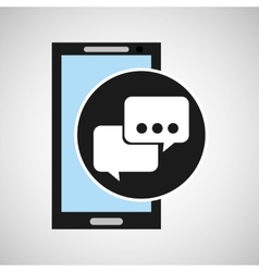 smartphone social media bubble speech vector image