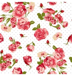Beautiful Seamless Vintage Background with Roses vector image vector image