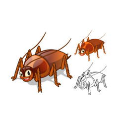 Cockroach Cartoon Character vector image