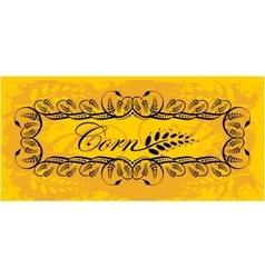 Corn frame in gold vector