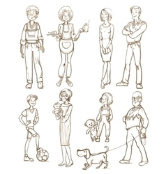 People group set vector