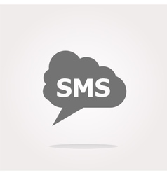 sms glossy web icon isolated on white vector image