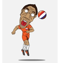 soccer player Netherland vector image