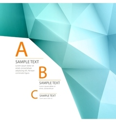 Abstract 3D triangle geometric background vector image