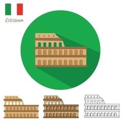Colosseum Icon Set vector image vector image